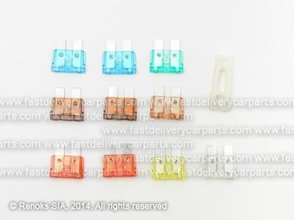 Drošinātājs 15MM komplekts 10gab 5Ax1; 7.5Ax2; 10Ax2; 15Ax2; 20Ax1; 25Ax1; 30Ax1